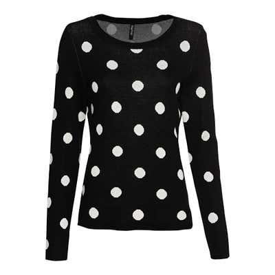 Damen Pullover mit Jacquard-Punkte-Muster