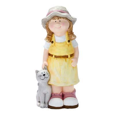 Deko-Figur mit Haustier, ca. 45cm