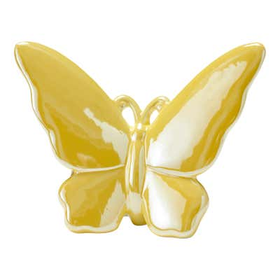 Deko-Schmetterling aus Porzellan, ca. 16x5x13cm