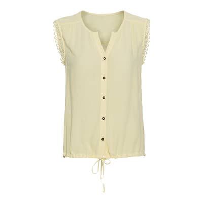 Damen-Bluse mit Spitze und Schnürung