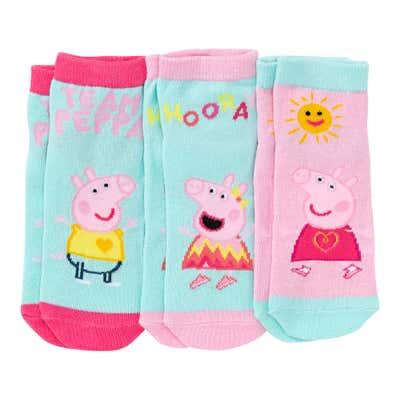 Peppa Pig Mädchen-Sneaker-Socken, 3er-Pack