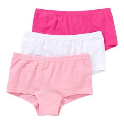Mädchen-Panty mit hohem Baumwoll-Anteil, 3er-Pack