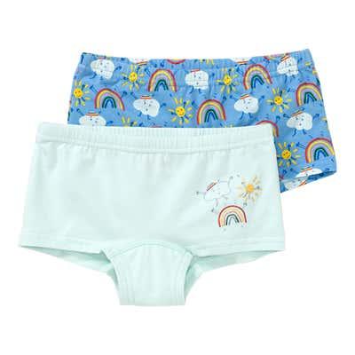 Mädchen-Panty mit Regenbogen-Muster, 2er Pack