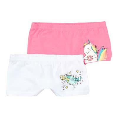 Mädchen-Panty mit Einhorn, 2er-Pack
