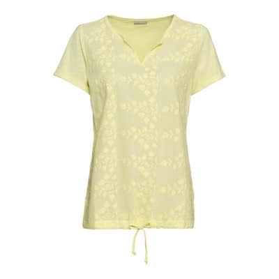 Damen-T-Shirt mit gesticktem Muster