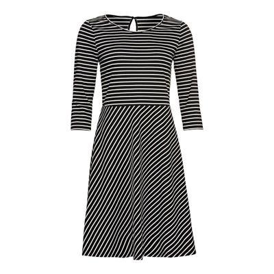 Damen-Kleid mit Ringelmuster