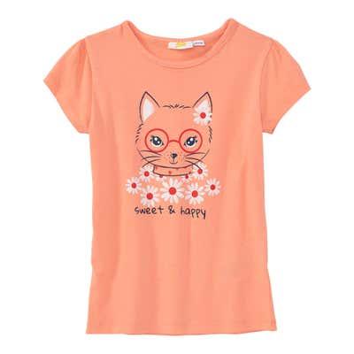 Mädchen-T-Shirt mit Hasen-Frontprint