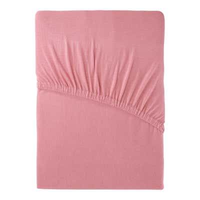 Jersey-Spannbetttuch mit Baumwolle, ca. 90-100x200cm
