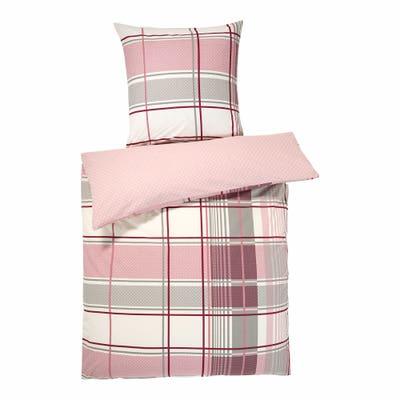 Baumwoll-Bettwäsche mit Karo-Muster