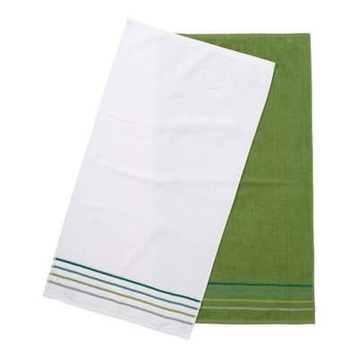 Handtuch mit Streifen-Bordüre, 2er-Pack, ca. 50x90cm
