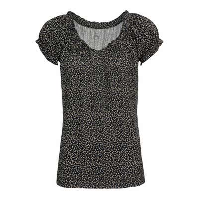 Damen-T-Shirt mit Dekoperlen