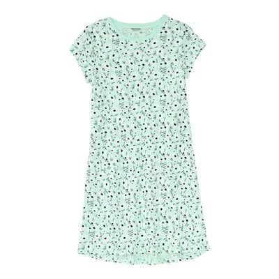 Kinder-Mädchen-Nachthemd mit floralem Design