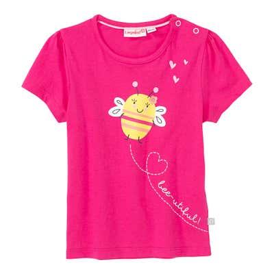 Baby-Mädchen-T-Shirt mit Bienen-Frontaufdruck