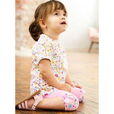 Baby-Mädchen-T-Shirt mit Blümchen-Muster