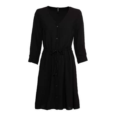 Lange Damen-Bluse mit Knopfleiste