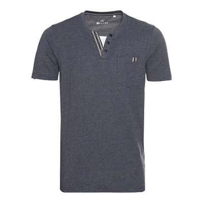 Herren-T-Shirt im Henley-Style