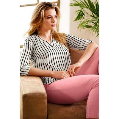 Damen-Bluse mit V-Ausschnitt