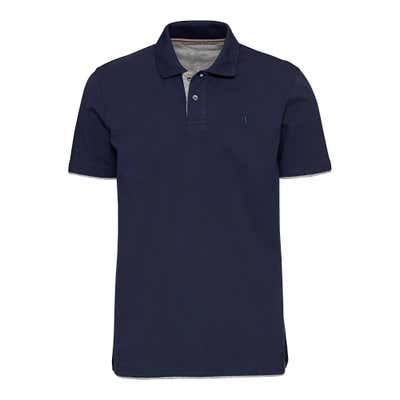 Herren-Poloshirt in Melange-Optik