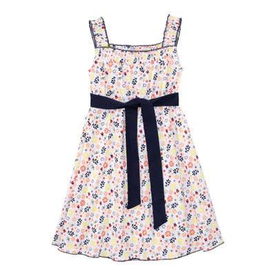 Mädchen-Kleid im bunten Blüten-Design