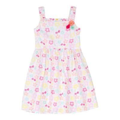 Mädchen-Kleid mit Blümchen