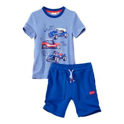 Kinder-Jungen-Set mit T-Shirt und Bermudas, 2-teilig