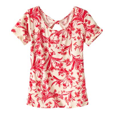 Damen-T-Shirt mit Rückenausschnitt