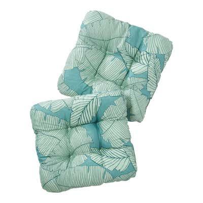 Stuhlkissen aus Baumwoll-Mischgewebe, ca. 38x38cm, 2er-Pack