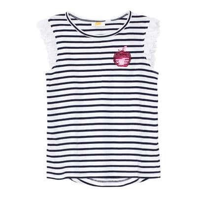 Mädchen-T-Shirt mit Spitze