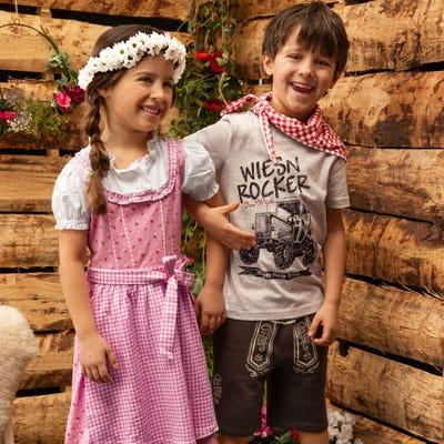 Kinder-Jungen-Trachten-Set mit Baumwolle, 3-teilig
