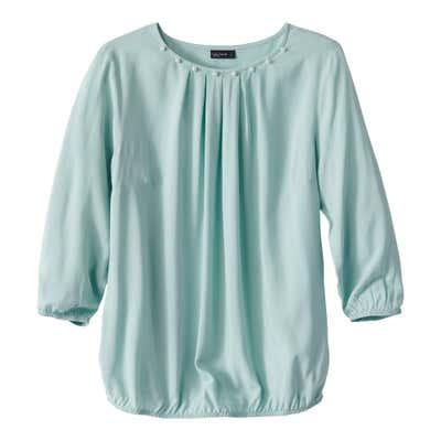 Damen-Bluse mit Perlenbesatz