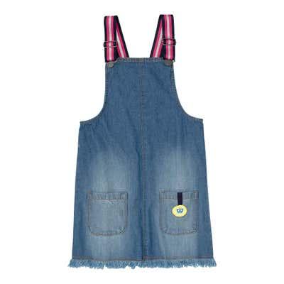 Mädchen-Latzkleid in Jeans-Optik