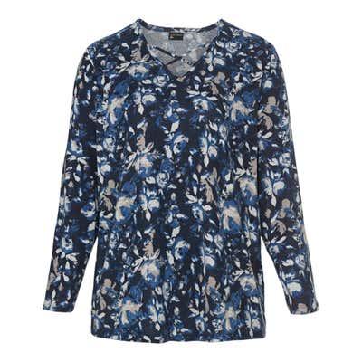 Damen-Sweatshirt mit Zierbändern, große Größen