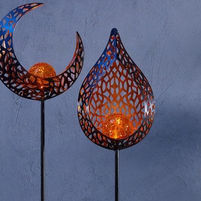 Solar-Stab aus Glas und Metall, ca. 92cm