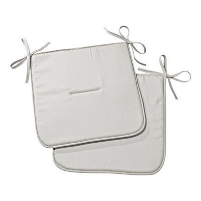 Stuhlplatten mit Bindebändern, ca. 38x38cm, 4er-Pack