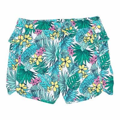 Mädchen-Shorts im tropischen Muster