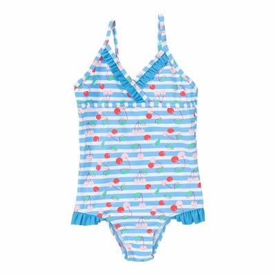 Mädchen-Badeanzug mit Rüschen