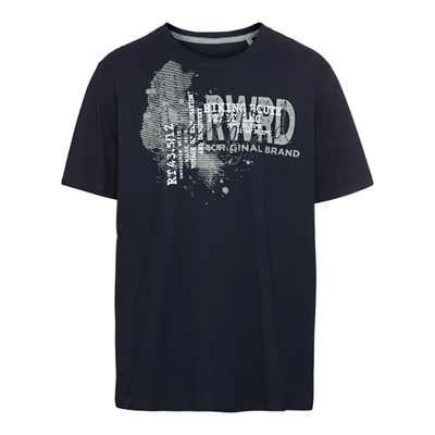 Herren-T-Shirt mit Kontrast-Einsatz, große Größen
