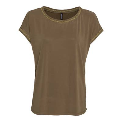 Damen-T-Shirt mit Glitzer-Band