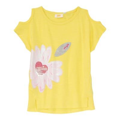 Mädchen-T-Shirt mit Pailletten