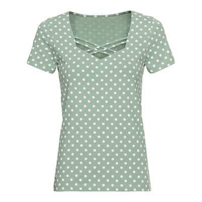 Damen-T-Shirt mit Punkte-Muster