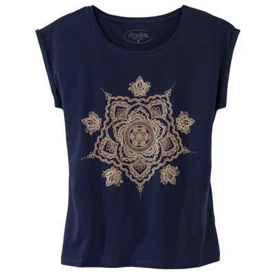 Damen T-Shirt mit Glitzerdruck