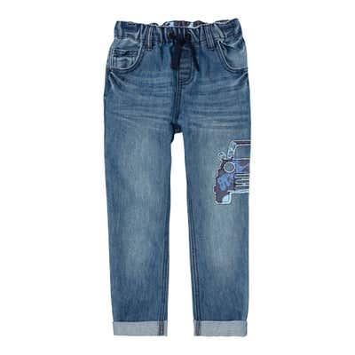 Jungen-Jeans mit Auto-Applikation