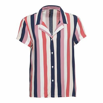 Damen-Bluse mit bunten Streifen