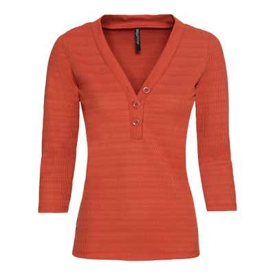 Damen-Sweatshirt mit Streifen-Struktur-Muster