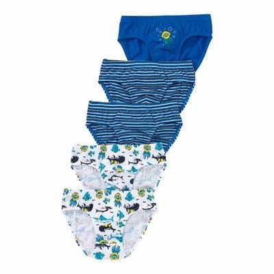 Jungen-Slips mit süßen Meeresbewohnern, 5er-Pack