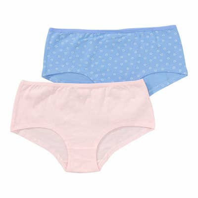 Mädchen-Panty mit Herzchen-Muster, 2er-Pack