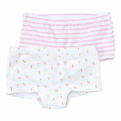 Mädchen-Panty mit Muster, 2er-Pack
