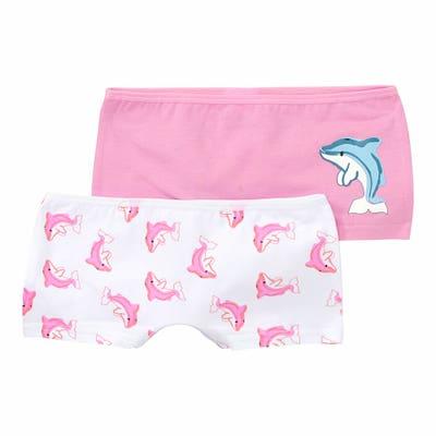 Mädchen-Panty mit Delfin-Aufdruck, 2er-Pack