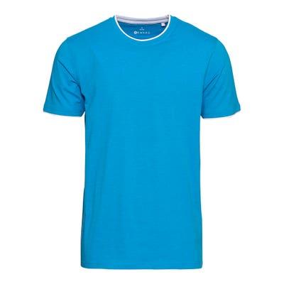 Herren-T-Shirt mit Kontrast-Einsätzen