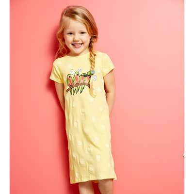 Mädchen-Nachthemd mit Vogel-Aufdruck